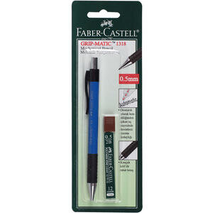 Faber Castell Grip Matic 1318 Versatil Uçlu Kalem Seti 0.5 mm Mavi