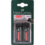 Faber Castell Plastik Silgisi Siyah 2'li Paket