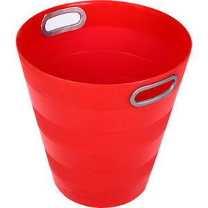 Ark 1051 Plastik Deliksiz Çöp Kovası Kırmızı 12.5 lt