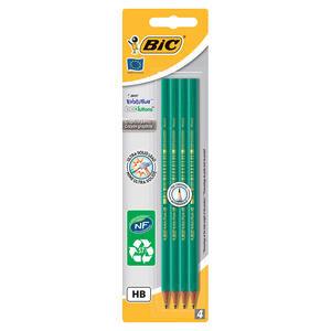 Bic Eco Evolution HB Kurşun Kalem Siyah 4'lü Paket