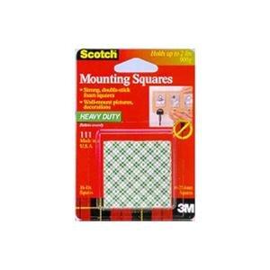 3M Scotch Çift Taraflı Yapışkan Köpük Kareler Ağır Malzemeler İçin 25.4 mm x 25.4 mm 16 adet