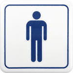 Bay WC Uyarı Levhası PVC A1 128  12cm  x 12cm  x 3mm
