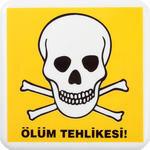 Tehlike PVC Uyarı Levhası A1 219 12 cm x 12 cm x 3 mm