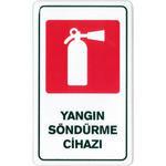 Yangın Söndürme Cihazı PVC Uyarı Levhası C 120