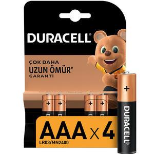 Duracell Alkalin AAA İnce Kalem Pil 4'lü Paket