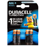 Duracell Alkalin AAA Turbo İnce Kalem Pil 4'lü Paket