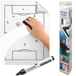 Legamaster Magic Chart Statik Flipchart Kağıdı 60 cm x 80 cm Çizgisiz Markör Kalem Hediyeli