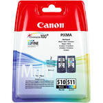 Canon 510 Siyah / 511 Renkli Kartuş (2'li Paket) PG-510 + CL-511