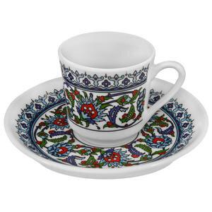 Güral Porselen Topkapı Sarayı Desenli Türk kahvesi Fincan Takımı 6'lı