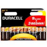 Duracell Alkalin AA Kalem Pil Ekonomik 9+3'lü Paket