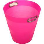Ark 1051 Plastik Deliksiz Çöp Kovası Pembe 12.5 lt