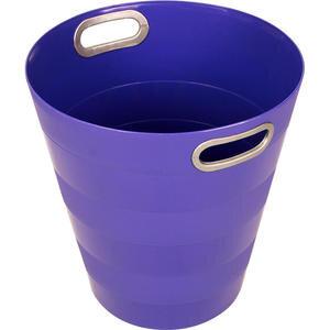 Ark 1051 Plastik Deliksiz Çöp Kovası Mor 12.5 lt