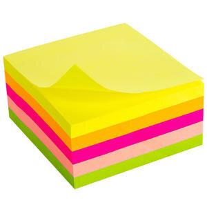 Noki Memo 12012 Yapışkanlı Not Kağıdı 75 mm x 75 mm Neon Karışık Renk 400 Yaprak