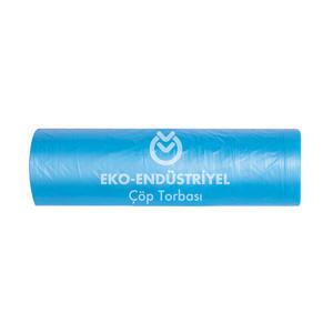 Koroplast Çöp Torbası Eko Endüstriyel Mavi Hantal 100 cm x 150 cm 1 Koli (10 Rulo)