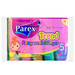Parex Trend Düz Sünger Rengarenk 5'li