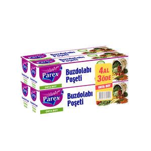 Parex Buzdolabı Poşeti 4 Al 3 Öde Orta Boy