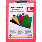 Ark 760 A4 Kapaksız Plastik Sekreterlik Şeffaf Kırmızı