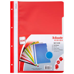 Esselte 4199 Telli Dosya Kırmızı 50'li Paket