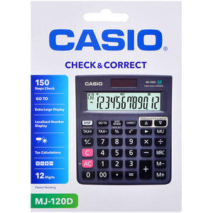 Casio MJ-120D İşlem Kontrollü Hesap Makinesi 12 Haneli