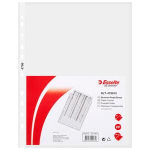Esselte 4798 A4 Eco Delikli Şeffaf Poşet Dosya 100'lü Paket