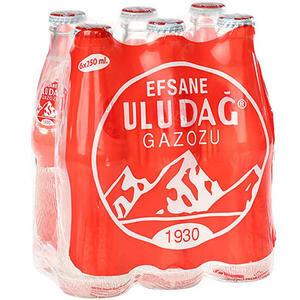 Efsane Uludağ Gazozu Cam Şişe 250 ml 6'lı Paket