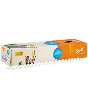 Sarff Plastik Spiral 8 mm Beyaz 100'lü Paket