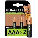 Duracell AAA Şarj Edilebilir Kalem Pil 2'li Paket