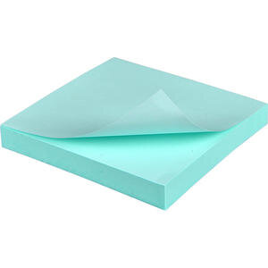 Hopax 21149 Yapışkanlı Not Kağıdı 76 mm x 76 mm Pastel Mavi 100 Yaprak