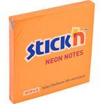 Hopax 21164 Yapışkanlı Not Kağıdı 76 mm x 76 mm Neon Turuncu 100 Yaprak