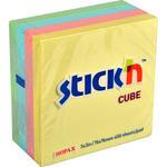 Hopax 21013 Yapışkanlı Not Kağıdı Küp Blok 76 mm x 76 mm Pastel Renkler 400 Yaprak