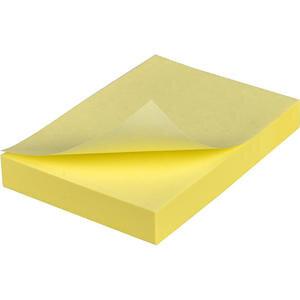 Hopax 21006 Yapışkanlı Not Kağıdı 76 mm x 51 mm Pastel Sarı 100 Yaprak