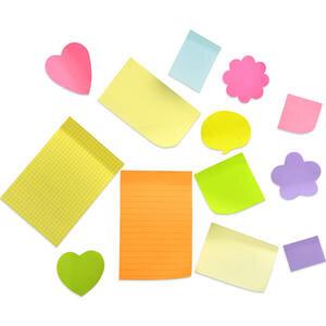 Hopax 21007 Yapışkanlı Not Kağıdı 76 mm x 76 mm Pastel Sarı 100 Yaprak