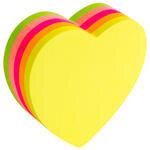 Hopax 21356 Yapışkanlı Not Kağıdı 67 mm x 67 mm Neon Kalp 250 Yaprak