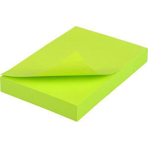 Hopax 21163 Yapışkanlı Not Kağıdı 76 mm x 51 mm Neon Yeşil 100 Yaprak