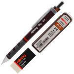 Rotring Versatil Uçlu Kalem 0.5 mm Bordo - Silgi Hediyeli