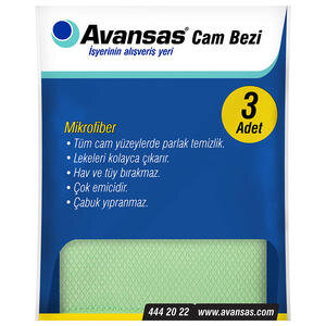 Avansas Mikrofiber Cam Bezi 3'lü Paket