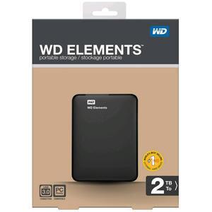 """Western Digital Elements Taşınabilir Disk 2 TB USB 3.0 2.5"""" Siyah WDBU6Y0020BBK-EESN"""