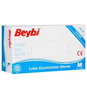Beybi Latex Muayene Eldiveni Pudralı Medium 100'lü Paket