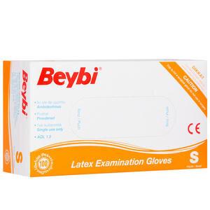 Beybi Latex Muayene Eldiveni Pudralı Small 100'lü Paket