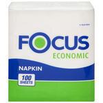 Focus Ekonomik Peçete 24.5 cm x 26.5 cm 100'lü Tekli Paket