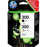 HP 300 2'li Paket Siyah ve Üç Renkli Kartuş CN637EE