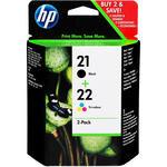 HP 21 Siyah / HP 22 Üç Renkli 2'li Paket Kartuş SD367AE