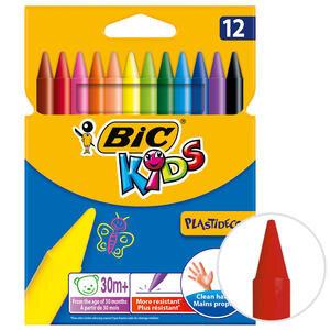 Bic Plastidecor 945764 Silinebilir Pastel Boya 12'li Paket