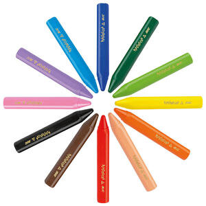 Bic Plastidecor 8297732 Elleri Kirletmeyen Üçgen Pastel Boya 12'li Paket