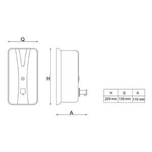 Ant 4019 Sıvı Sabunluk Dikey Metal 1000 ml