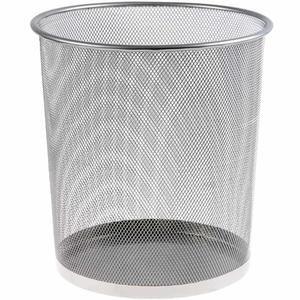 Avansas 954 Metal Delikli Çöp Kovası Gümüş 11 lt
