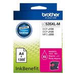 Brother LC535XL-M Kırmızı (Magenta) Kartuş 1300 Sayfa