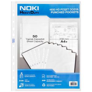 Noki 4830 A4 HD Poşet Dosya 100'lü Paket