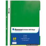 Avansas Extra Telli Dosya Yeşil 25'li Paket
