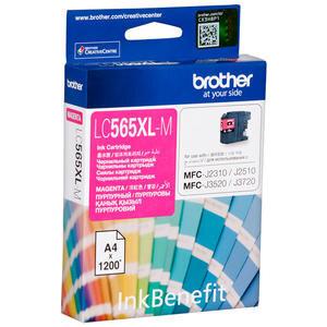 Brother LC565XLM Kırmızı (Magenta) Kartuş 1200 Sayfa